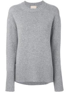 свитер с круглым вырезом в рубчик Drumohr