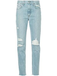 джинсы скинни с рваными деталями Rag & Bone