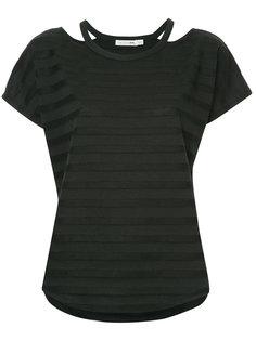 футболка в полоску с вырезами  Rag & Bone