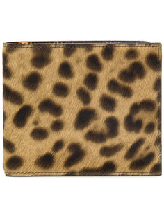 кошелек с леопардовым узором Maison Margiela