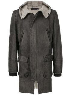байкерское пальто на молнии Salvatore Santoro