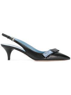 туфли с ремешком на пятке Prada