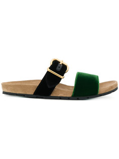 сандалии с пряжкой Prada