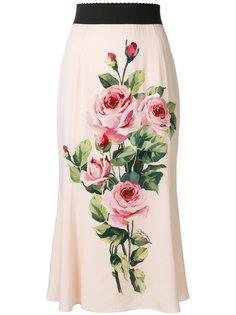 юбка с розами Dolce & Gabbana