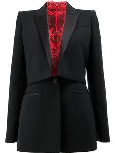 приталенный вечерний пиджак Alexander McQueen