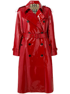 лакированное пальто-тренч Burberry