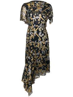 платье с накидкой и узором Peter Pilotto