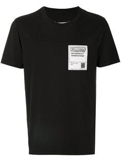 футболка с вышитой нашивкой Maison Margiela