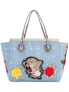 джинсовая сумка-тоут с нашивками Philipp Plein