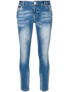 джинсы кроя скинни с цветочными нашивками Philipp Plein