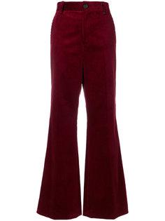расклешенные вельветовые брюки Marc Jacobs