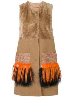 меховая куртка с бахромой без рукавов Drome