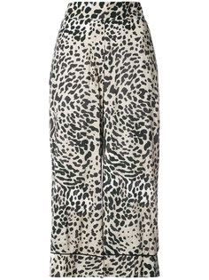 укороченные широкие брюки с леопардовым принтом Smythe
