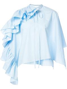блузка с оторочкой из воланов Delpozo