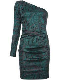 мини-платье с открытым плечом  Nicole Miller