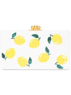lemon print box clutch Edie Parker