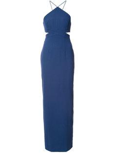вечернее платье с вырезными деталями Aidan Mattox