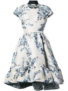 short-sleeve floral dress Fendi