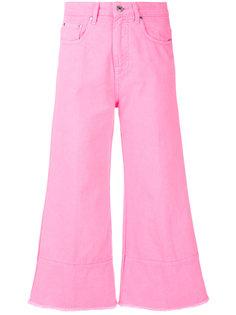 укороченные расклешенные джинсы MSGM