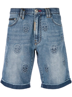 джинсовые шорты Power Trip Philipp Plein