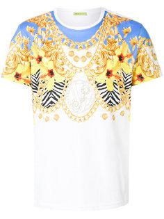 футболка с цветочным и цепочным принтом Versace Jeans