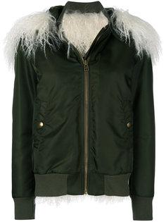 куртка-бомбер с отделкой из овчины Mr & Mrs Italy