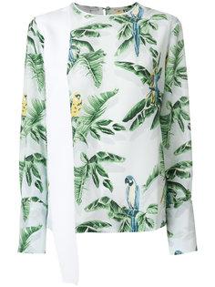 топ с пальмовыми листьями Stella McCartney