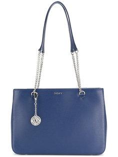 сумка-шоппер с цепочными ручками DKNY