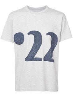 """футболка с принтом """"22"""" Visvim"""