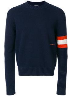 свитер с контрастными полосками на рукаве Calvin Klein 205W39nyc