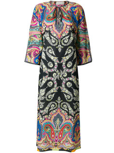mixed print beach cover-up Etro