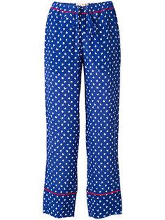 брюки с принтом Marni