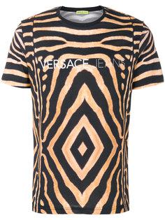 футболка с тигровым принтом Versace Jeans