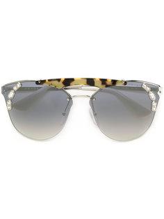 tiger detail square sunglasses Prada Eyewear
