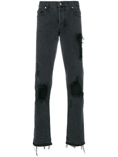 прямые джинсы с рваными деталями Misbhv