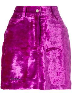 велюровая юбка мини Misbhv