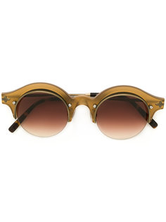 gradient-tinted round sunglasses Matsuda