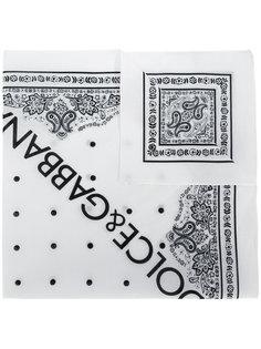 шарф с принтом логотипа Dolce & Gabbana