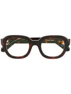 tortoiseshell round glasses Matsuda