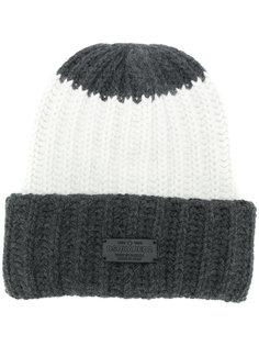 трикотажная шапка-бини в рубчик Dsquared2