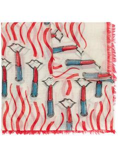 шарф с принтом помад Valentino