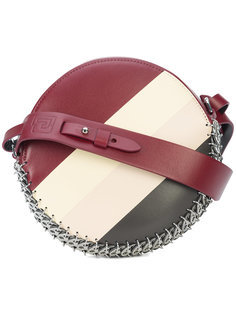 круглая сумка на плечо в полоску Paco Rabanne