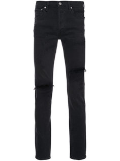 джинсы кроя скинни с рваными деталями Agolde