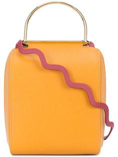 сумка с зигзагообразной деталью Roksanda