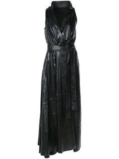 V-neck belted dress Ann Demeulemeester