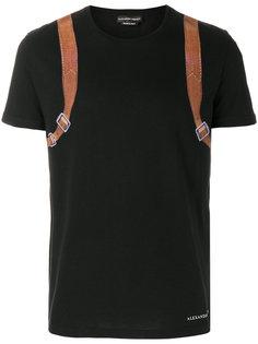 футболка с принтом сзади Alexander McQueen