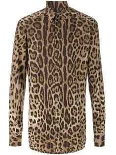 рубашка с леопардовым принтом Dolce & Gabbana