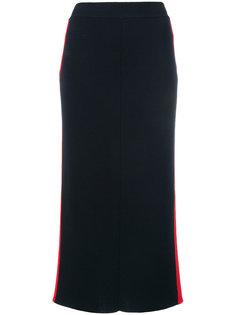 юбка-карандаш с лампасами Stella McCartney