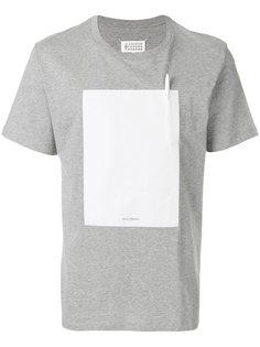 футболка с квадратной заплаткой Maison Margiela