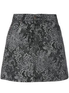 мини юбка с кружевным принтом Marc Jacobs